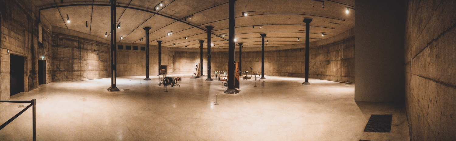 A vast concrete room filled with art I didn't understand