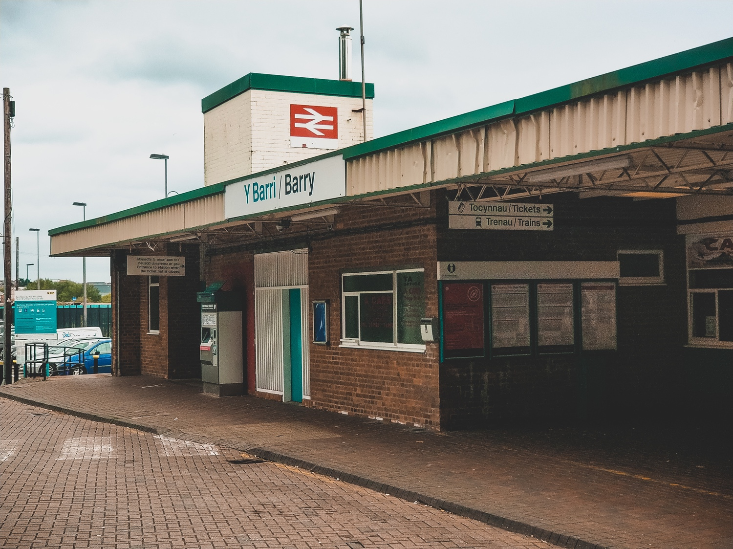 The outside of Barry station