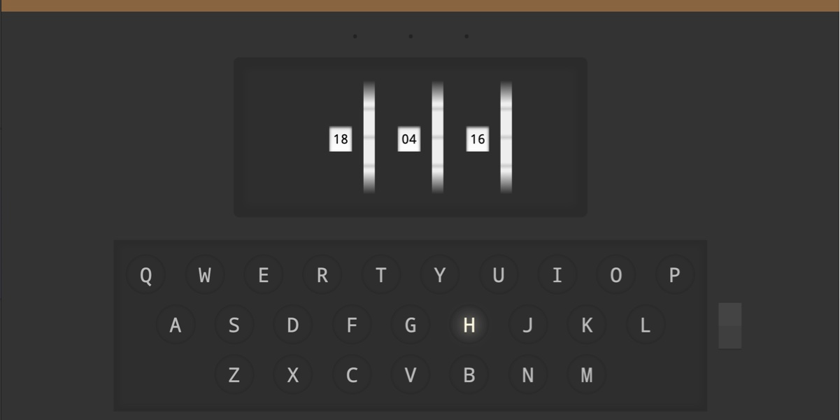 Enigma machine screenshot